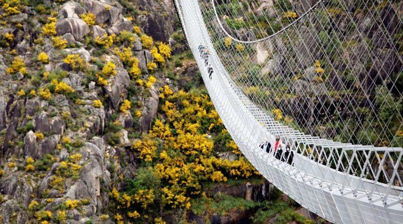 ponte suspensa de pedestres mais longa do mundo